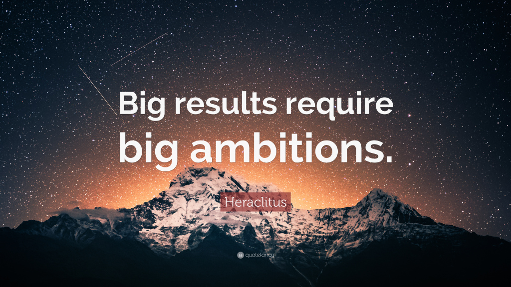HOW TO ACHIEVE BIG RESULTS